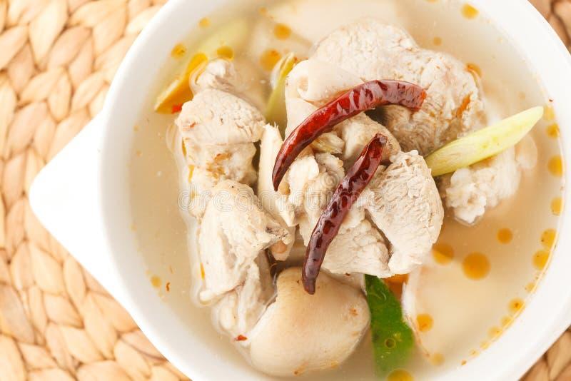 De kruidige soep van varkensvleesribben royalty-vrije stock foto