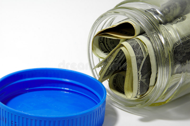 De Kruik Van Het Geld Stock Foto