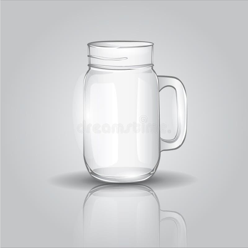 De kruik van het glas stock illustratie