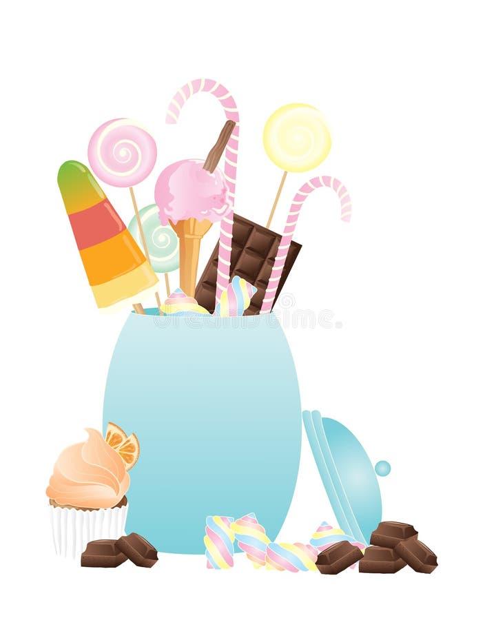 De kruik van het suikergoed royalty-vrije illustratie