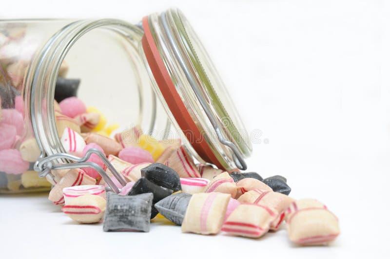 De Kruikhoogtepunt Van Het Glas Van Suikergoed. Stock Afbeeldingen
