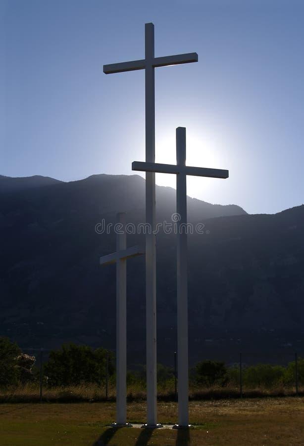 De kruisen van de zonsopgang stock afbeelding