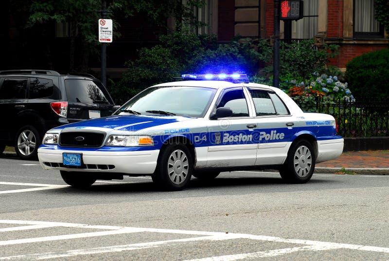 De Kruiser van de Politie van Boston stock afbeeldingen