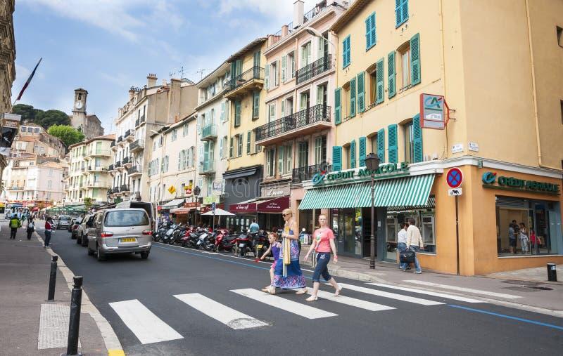 De kruising van Cannes stock foto's
