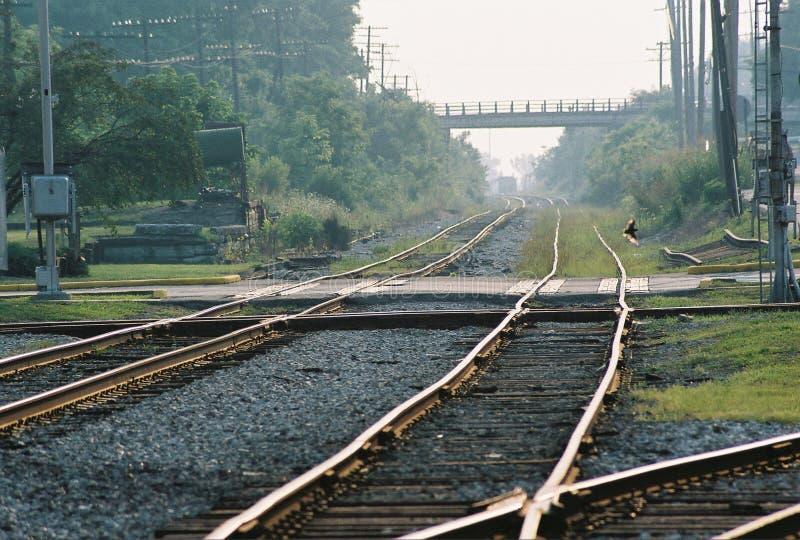 De Kruising van de spoorweg stock afbeelding