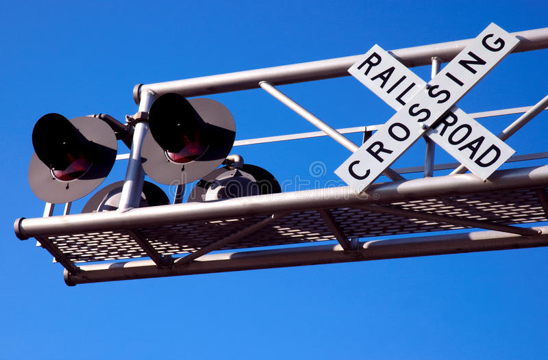 De Kruising van de spoorweg royalty-vrije stock foto's