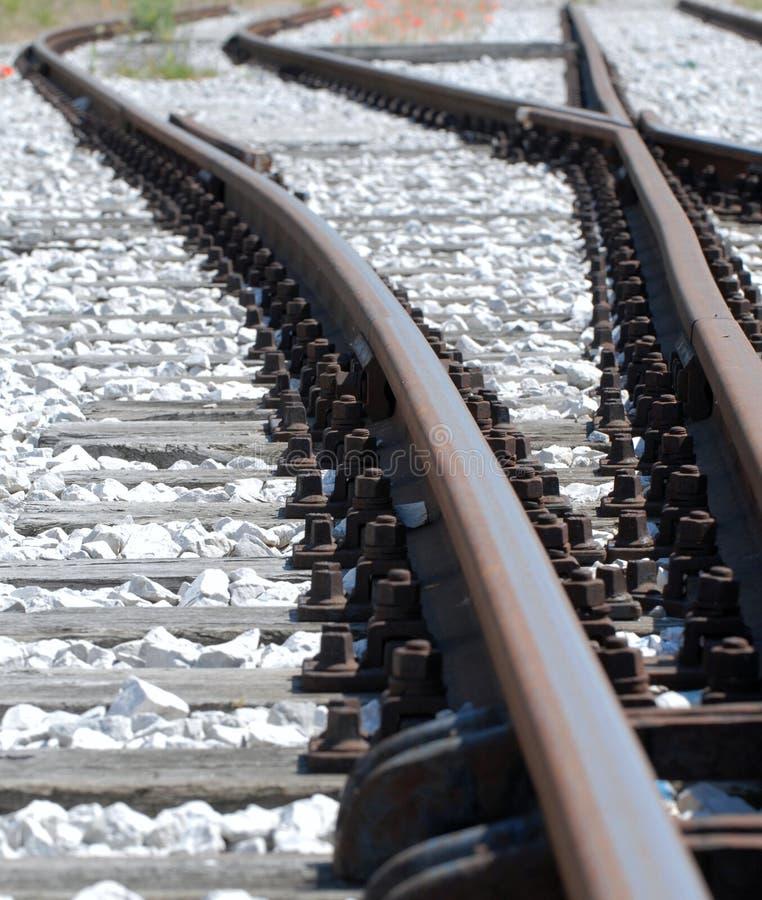 De Kruising van het spoor stock fotografie
