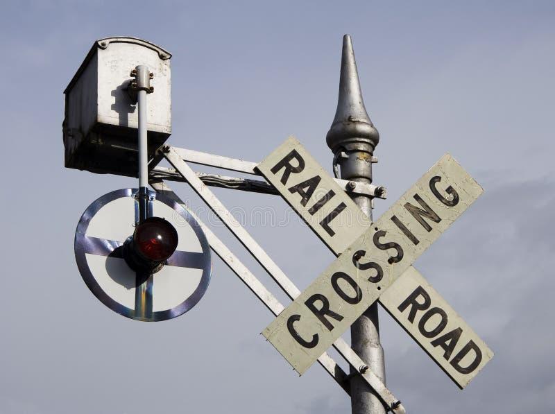 De kruising van het spoor stock afbeelding