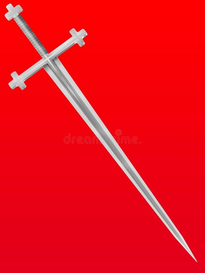 De kruisvaarder van het zwaard royalty-vrije illustratie