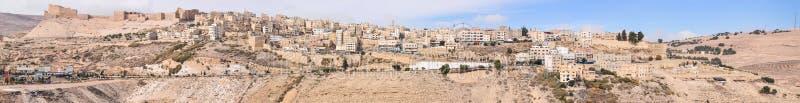 De Kruisvaarderkasteel van Al Karak /Kerak, Jordanië stock afbeelding