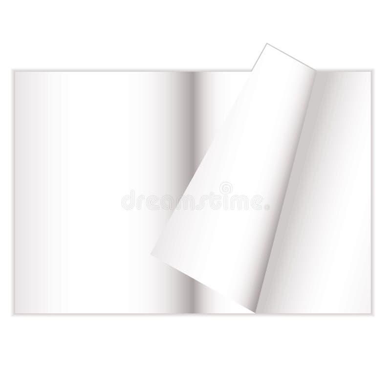 De krul van het tijdschrift vector illustratie