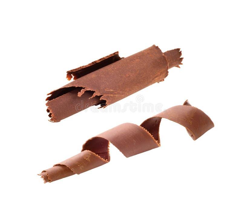 De krullen van de chocolade royalty-vrije stock afbeelding