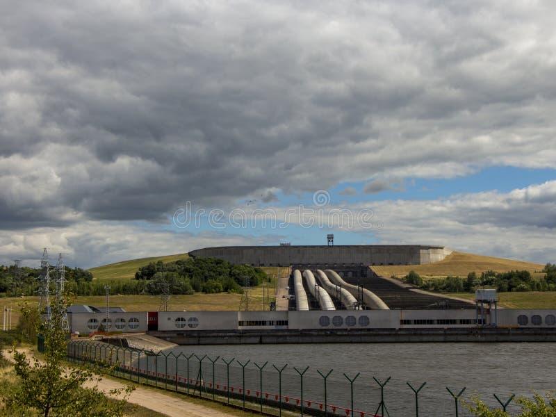 De Kruonis Gepompte Opslag Hydro-elektrische Installatie De rivier Dniepr litouwen stock fotografie