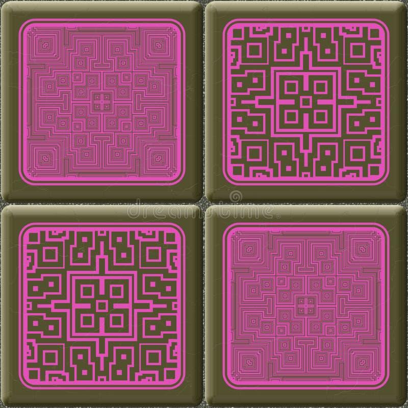 De kubus betegelt naadloze geproduceerde hurentextuur vector illustratie