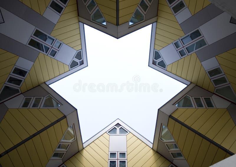 De kubus huisvest 3 royalty-vrije stock afbeelding