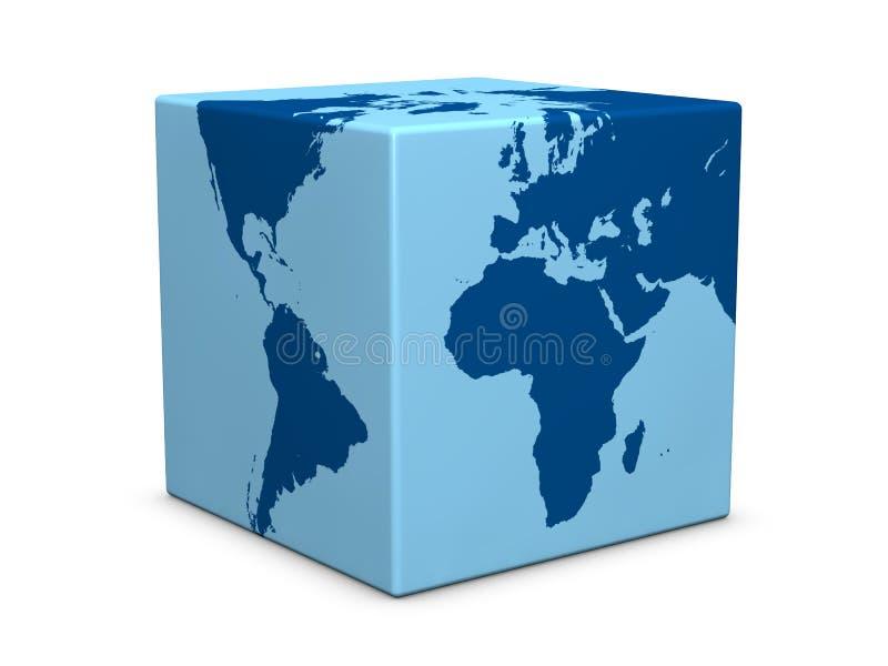 De kubus van de wereld royalty-vrije illustratie