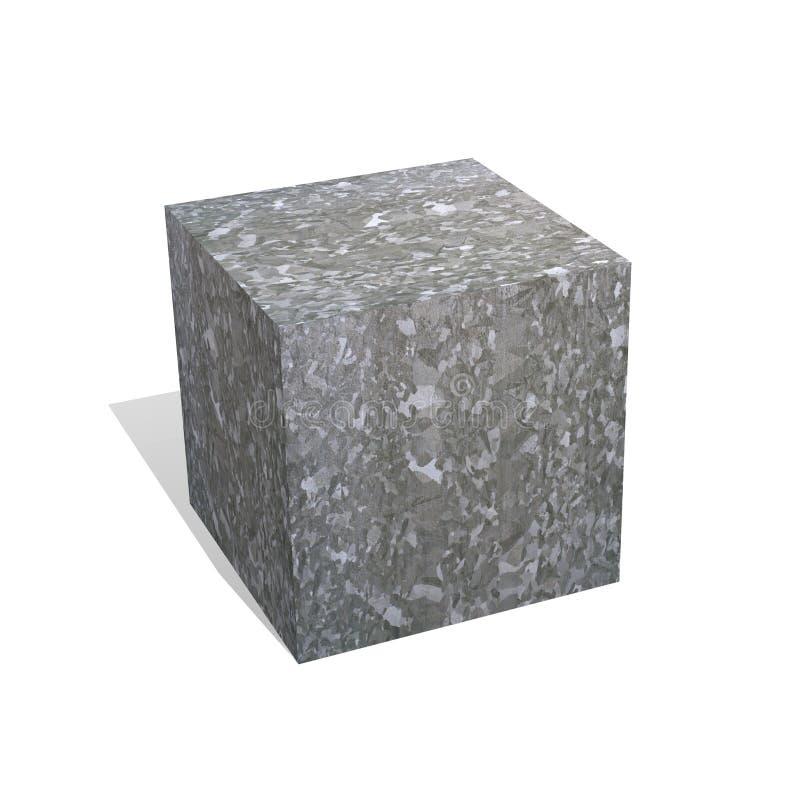 De kubus van het zink vector illustratie