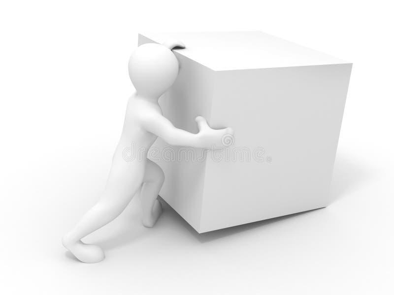 De kubus van mensen wiyh stock illustratie