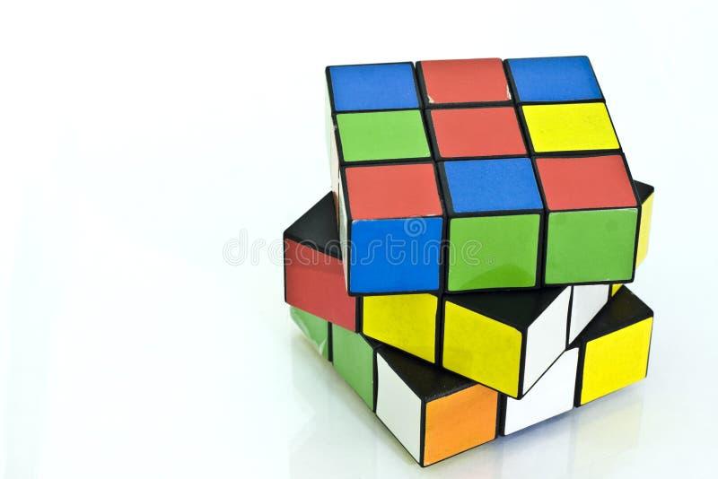 De kubus van Rubik stock foto