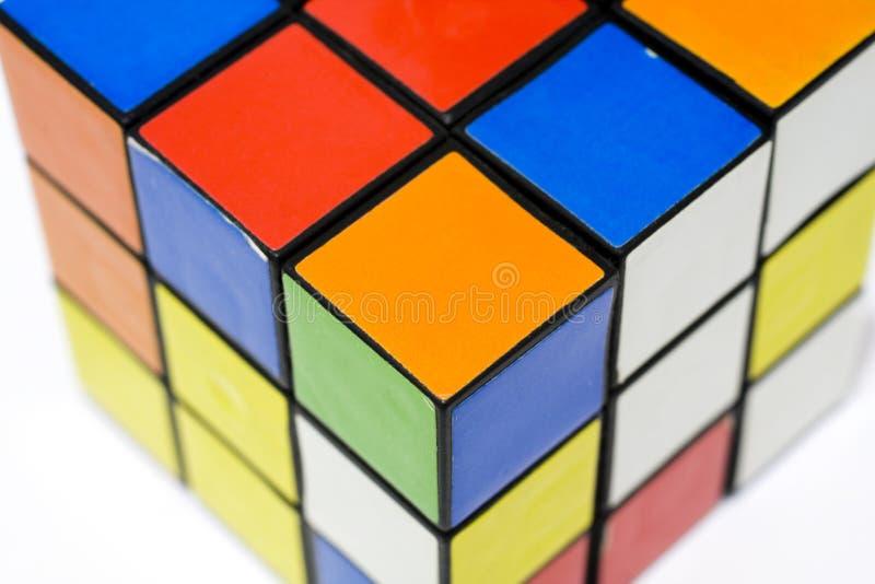 De kubus van Rubik. stock foto