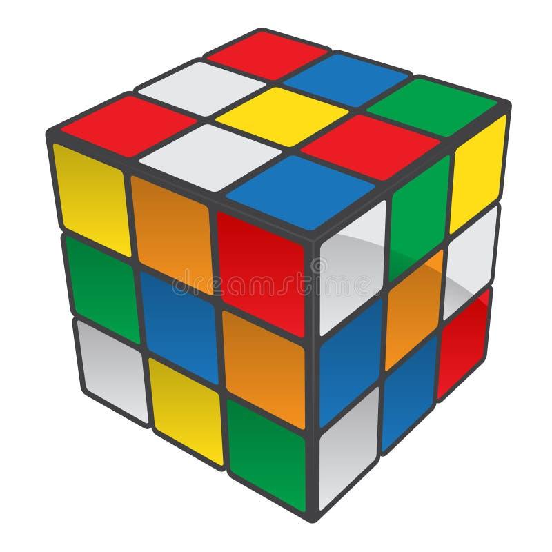 De Kubus van Rubiks stock illustratie