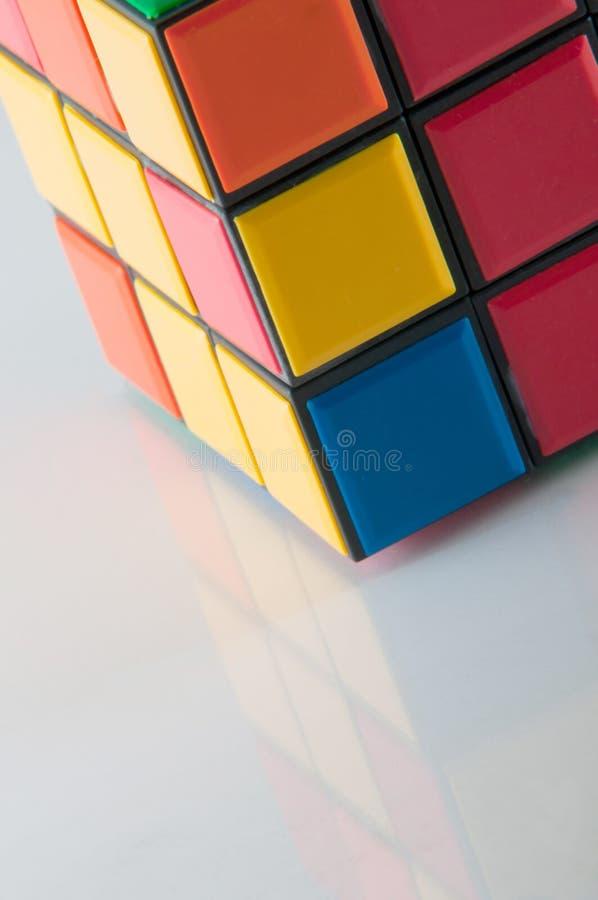 De kubus van Scrambled rubik stock foto's