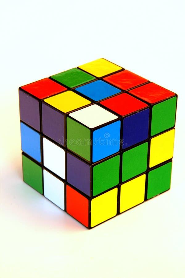De kubus van Scrambled rubik royalty-vrije stock fotografie