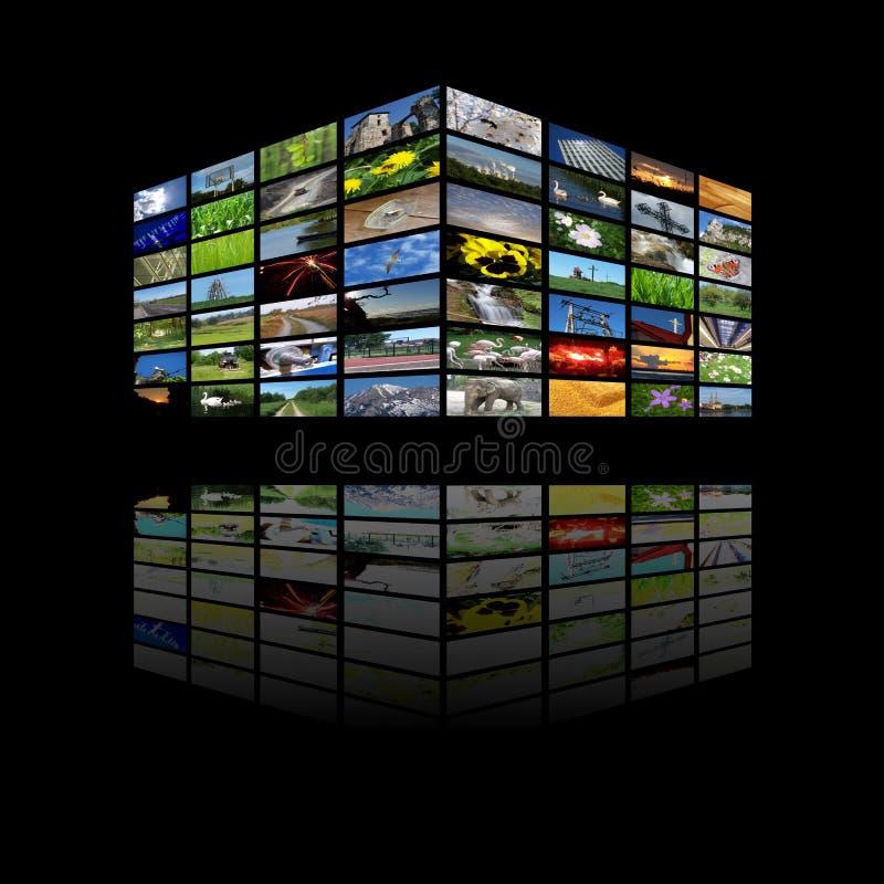 De kubus van verschillende media vector illustratie