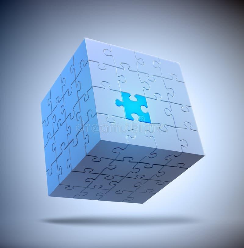 De kubus vormde raadsel vector illustratie