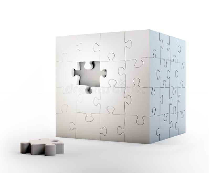 De kubus vormde raadsel stock illustratie