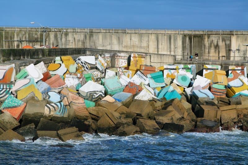 De kubussen van geheugen, Llanes, Asturias, Spanje royalty-vrije stock afbeeldingen
