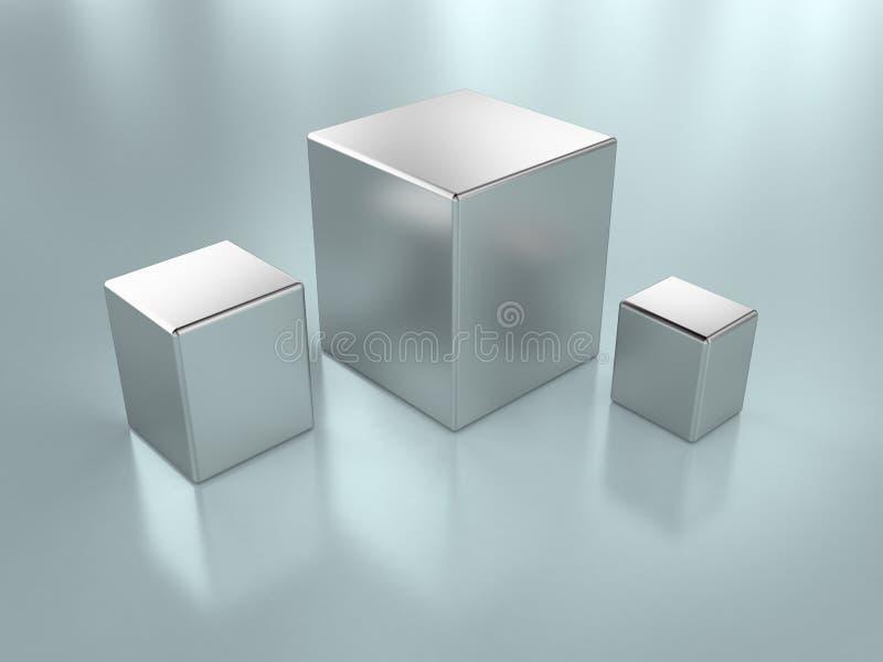 De kubussen van het metaal vector illustratie