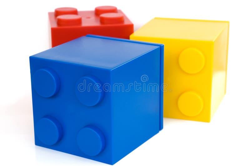 De kubussen van het stuk speelgoed royalty-vrije stock afbeelding