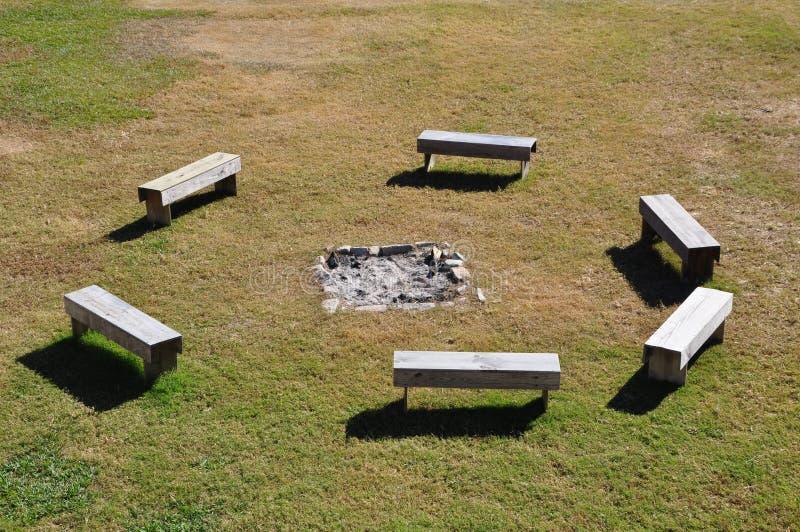 De Kuil van de brand stock foto