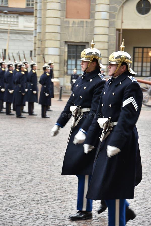 De kungliga vakterna av Sverige royaltyfri bild