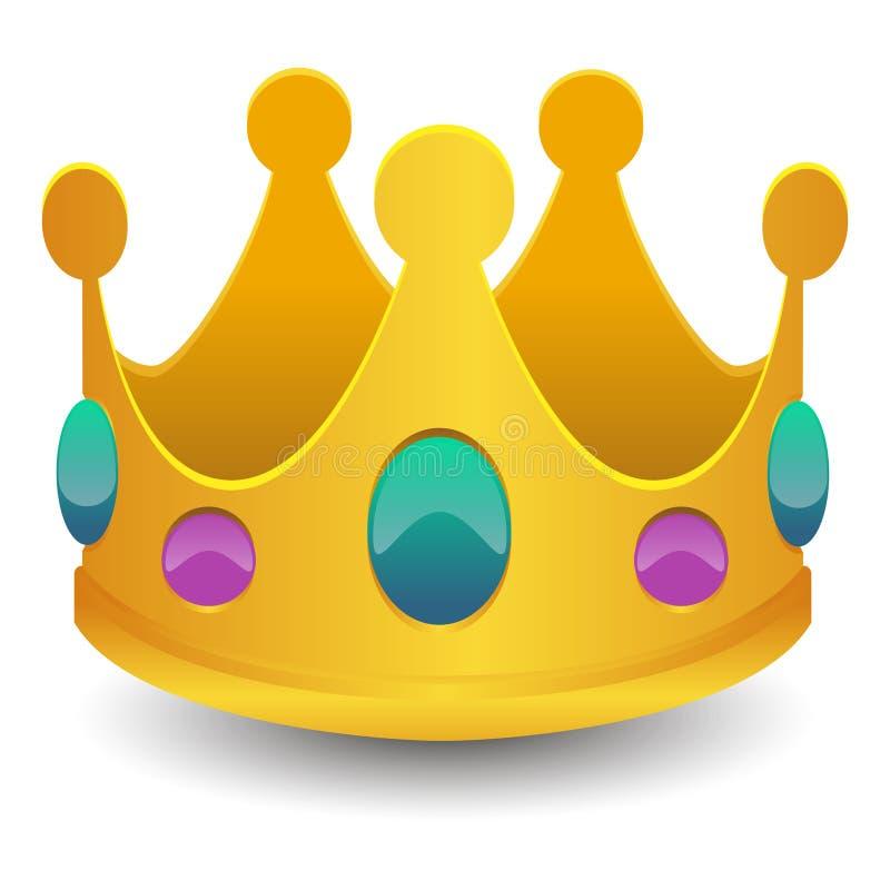 De Kunst 3D Effect van koningscrown emoji vector Symbool van het Praatjepictogram royalty-vrije illustratie