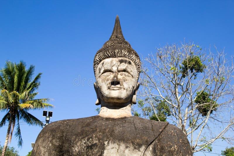 De Kunst van Boeddhisme Overvloed van de standbeelden van Boedha in het Park van Boedha, Vientiane Laos PDR stock foto's