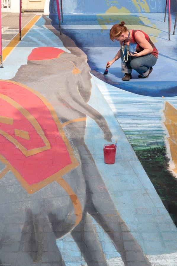 De kunst van Chiangmai fest op de straat stock afbeeldingen