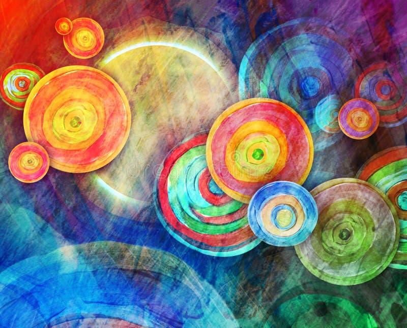 De Kunst van de cirkelvorm in Zonlandschap stock illustratie
