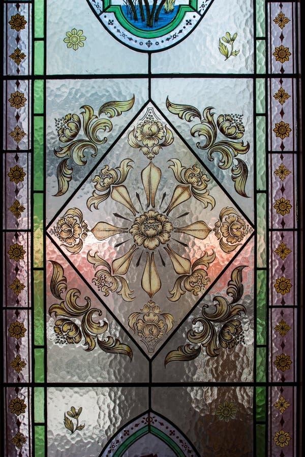 De kunst van de glasdecoratie van Thaise Tempel royalty-vrije stock fotografie