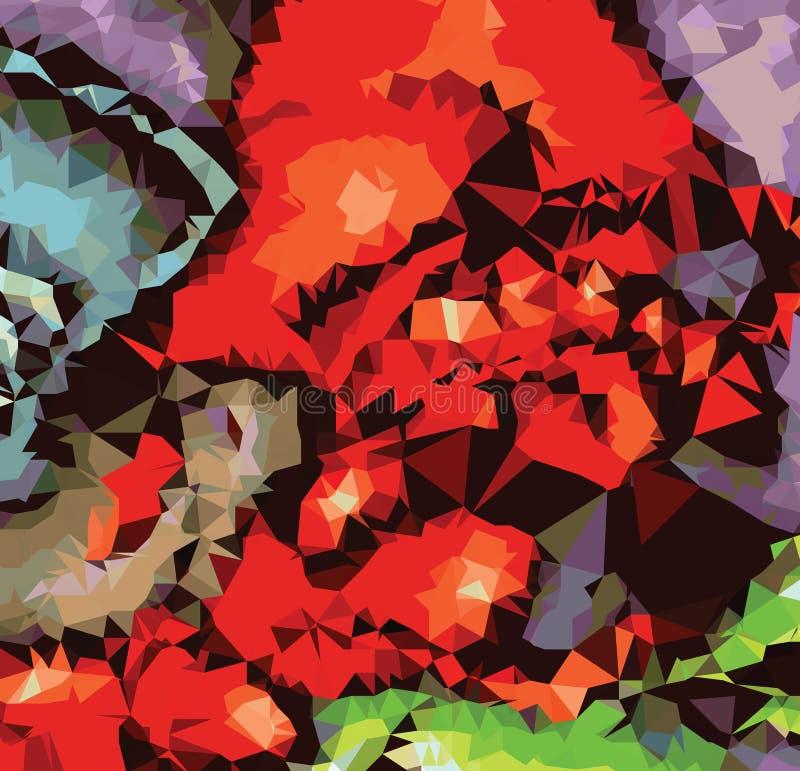 De kunst van de het patroonluxe van de achtergrond het abstracte driehoeksmeetkunde schilderen royalty-vrije illustratie