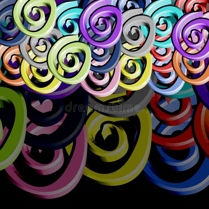 De kunst van de kleur stelt behang voor vector illustratie
