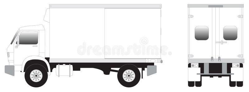 De kunst van de lijn - minivrachtwagen royalty-vrije illustratie