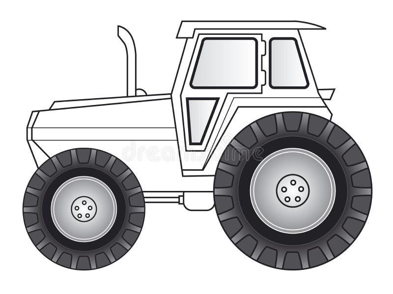 De kunst van de lijn - tractor stock illustratie
