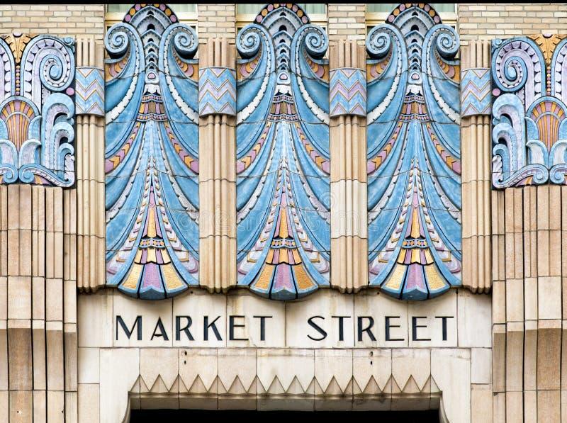 De kunst van de marktstraat, Philadelphia, Pennsylvania royalty-vrije stock afbeeldingen