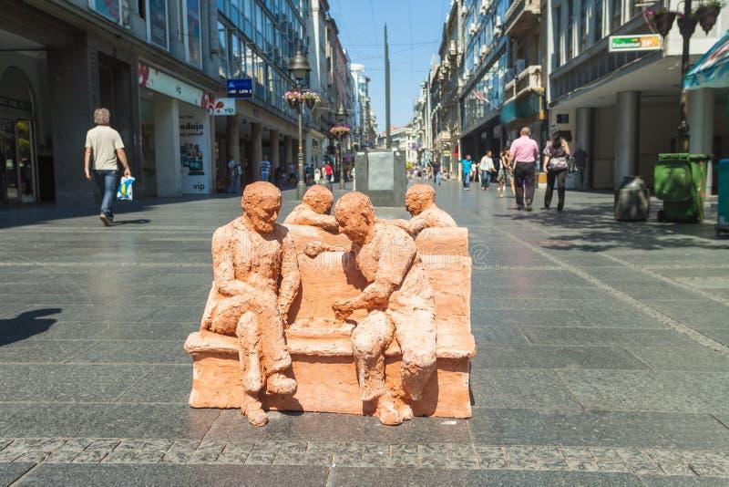 De kunst van de straat in Belgrado royalty-vrije stock afbeeldingen