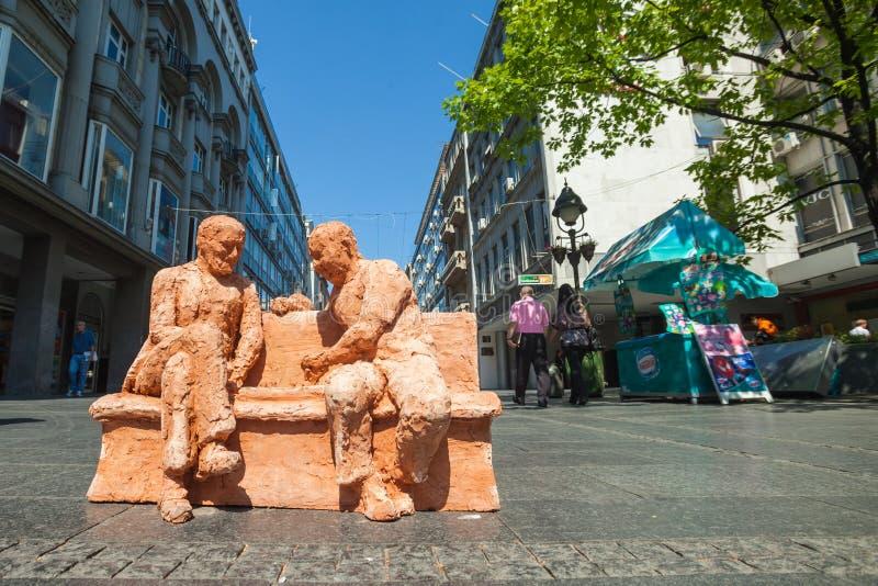 De kunst van de straat in Belgrado royalty-vrije stock afbeelding