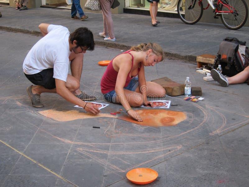 De Kunst van de straat in Florence royalty-vrije stock foto
