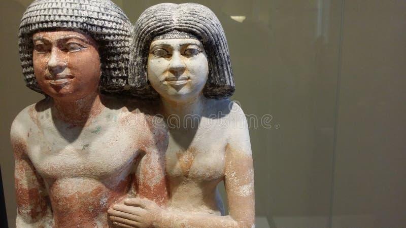 De kunst van Egypte: koninklijk paar stock fotografie