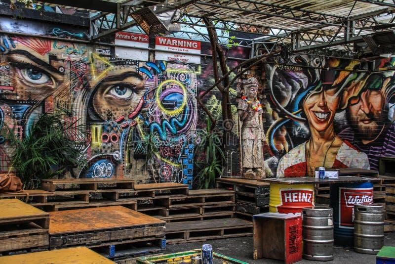 De kunst van de Inspirativestraat in Melbourne, Victoria, Australië stock fotografie